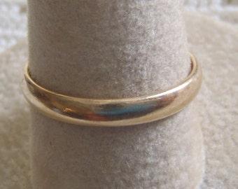 Vintage Wedding Band Ring 14K Yellow Gold Size 8