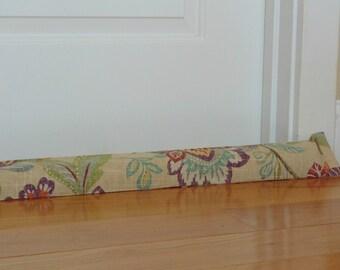 Door draft dodger, colorful, long door snake, custom length, modern wind blocker, home decor, breeze blocker, unfilled