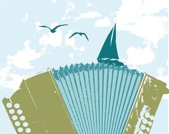 Carococo imprimé d'art par Carol-Anne Pedneault / La valse du Fleuve / 12x12