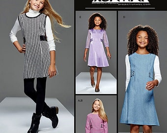 Girls' Project Runway Dress Pattern, Girls' Jumper and Leggings Pattern, Simplicity Sewing Pattern 8026
