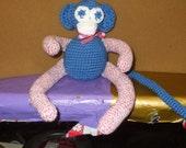 crocheted spider monkey