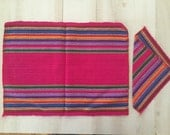 Ethnic Sarape Set of 6 Table Mat Placemat and Napkins