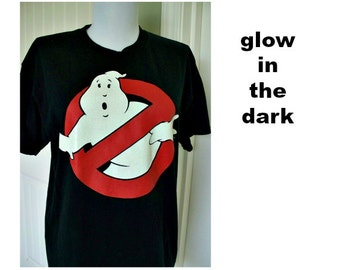 Vintage Ghost Busters tee shirt - glow in the dark - cotton tee