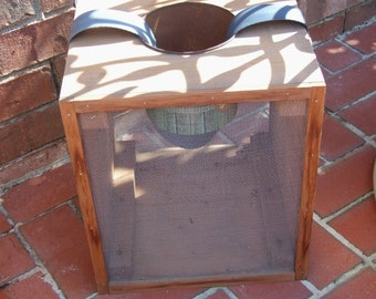 Vintage Wooden Cricket Box Bait Box Fishing Supply