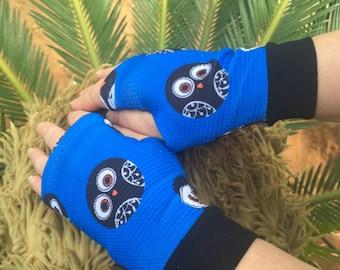 Owl Fingerless Glove Etsy