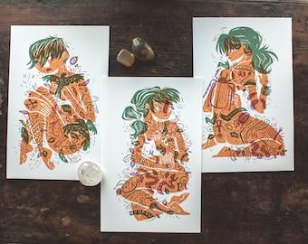 Tattooed Ladies - Mini Prints - LAST CHANCE SALE