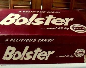 Vintage Candy Bar Box,  Store Advertising Box,  Bolster Candy Bar Cardboard Store Box,  NECCO Candy Bar Company