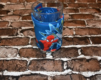 Spiderman Glass/Large Can Cozy