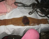 vintage   Antique Horse Tack, Strap, Rusty, Leather, Iron, Buckle, Industrial, Supply, Rustic, Farm