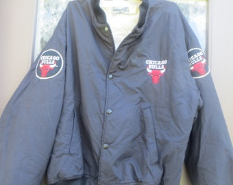 retro vintage 80s Chicago Bulls swingster cotton poly jacket  size large