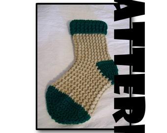 Crochet Pattern: Waffle Weave Christmas Stocking