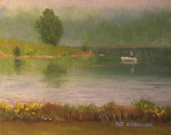 Original oil painting, plein air landscape, 8x10