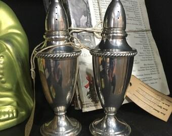 Elegant Sterling Silver Salt & Pepper Shakers - Fischer 401 (Item: NR-101)