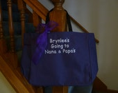 Kids Tote Bag Going to Grammas Nanas Grandmas Embroidered Tote Bag Custom Childs Tote Bag