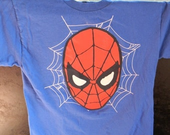 Vintage Spiderman Youth t-shirt superhero marvel collector boys shirts clothing gift for him