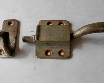 1 antique ice box original latch and catch offset