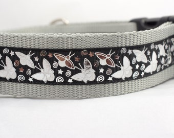 Glow in the Dark Collar - Glow Dog Collar - 1.5 inch wide - Fireflies dog collar - firefly dog collar - lightning bug collar - black collar
