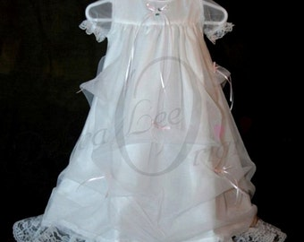Elizabeth White Christening Gown Blessing Gown party dress