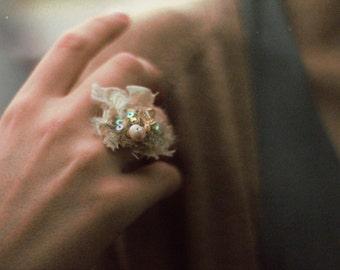 gypsy ring, boho beaded ring, hippie ring