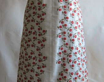Embroidery silk dupioni skirt.-