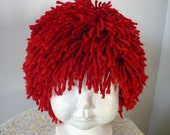 Red yarn Halloween rag doll wig Small Child 16 inches