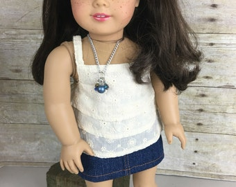 Custom American Girl Doll with Hand-Painted Eyes