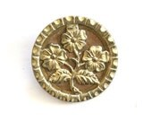 Antique LG Pictorial Flower Button