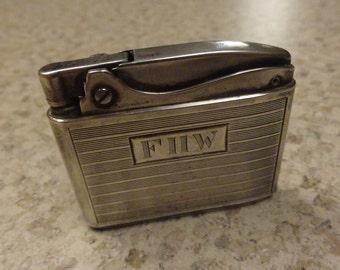 Vintage RONSON  Sterling Lighter Adonis Silver Midcentury