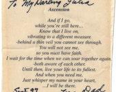 Handwriting Signature Pendant -Memorial Jewelry - Vertical Pendant Made to order for Julia
