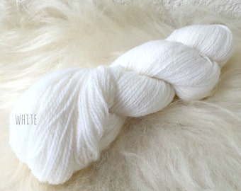 Latvian wool. Wool yarn. 6/2 - 100 gr. (100% wool) Snow White.