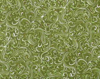 Breezeway in Avocado 100% Cotton Quilt Fabric Blender for Sale, Olive Green, Fat Quarter, Yardage