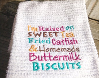 Southern Style embroidered towel