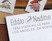 Custom Address Stamp, Address Stamp, Self Inking Stamp,  Personalized Rubber Stamp, Custom Rubber Stamp, Invitations - Nadine