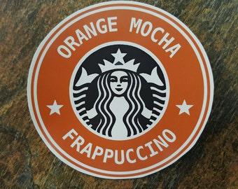 Orange Mocha Frappuccino - Handmade Large Magnet - Original Art Zoolander