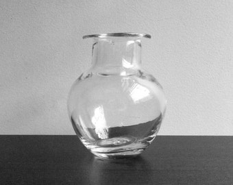 Blown Glass Vase - Clear