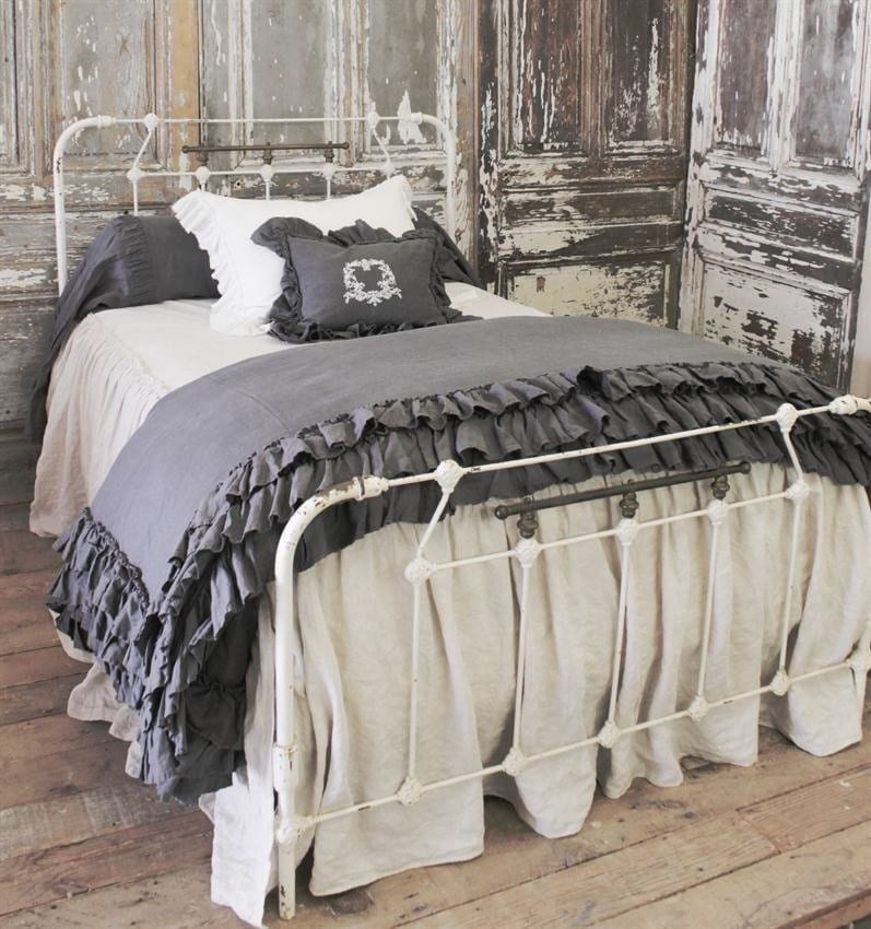 Antique Iron Bed Frame With Springs : Antique iron bed