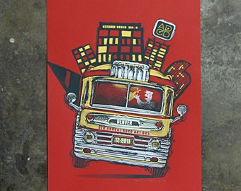 Denver Art Bus - Hand Pulled Screenprint