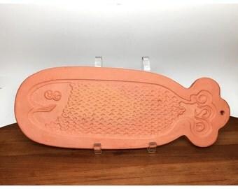 David Gil Terracotta Fish Trivet - Bennington Pottery 1963
