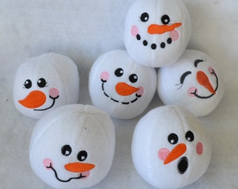 Indoor Snowball Fight, Choice of Yellow Snowball, Set of Six, Indoor Fun at Home or Office
