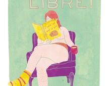 Feminist illustration, Feminist print, Body Positive, Leg hairs don't care