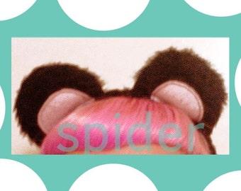 Panda Bear Ears Headband Black Faur Fur Stuffed Ears No Bows Headbands  Costume Halloween Cosplay Anime Head Band Kawaii