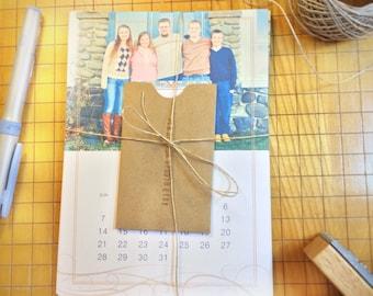 Personalized Photo 12 Month Calendar - Picture Calendar - Photo Calendar - Custom Calendar - Customized Calendar - Desktop Calendar