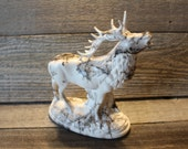 Bugling  Elk Statue - Horse Hair Pottery