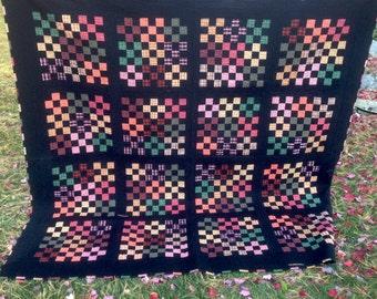 Pumpkin Patch queen quilt