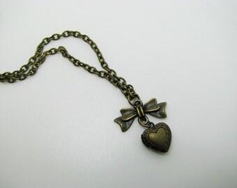 Mini Heart Locket Necklace