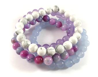 MAXI Stack | Cool | Blue, Purple, White + Watercolor