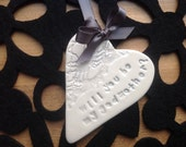 Will you be my godmother silver ceramic heart keepsake gift card