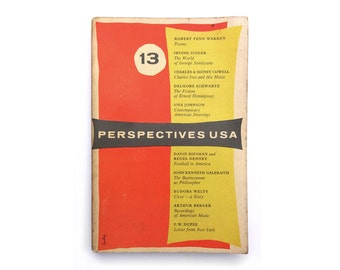 Alvin Lustig magazine design. Perspectives USA (Issue 13, Autumn 1955) published by James Laughlin