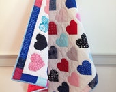 Baby quilt : hearts