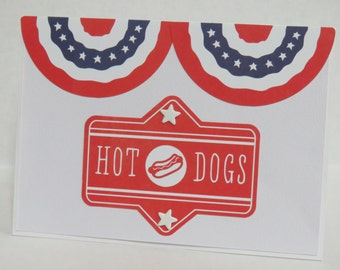 All American Hot Dogs Patriotic Christian Card With Scripture